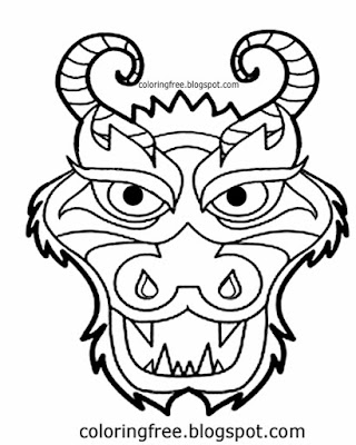 Simple outline drawing of a dragon clipart black and white dragons face coloring pages for schools