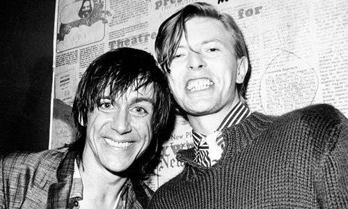Iggy Pop y David Bowie en 1977