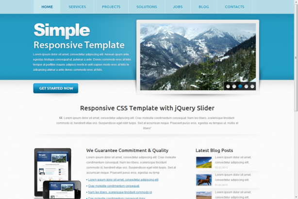 Html5 Template Simple Responsive