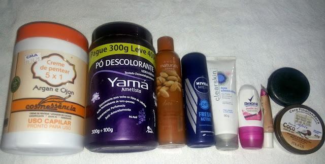 Produtos acabados: Avon, Nivea, rexona, Yamá, Cosmessência, Vita Capili...