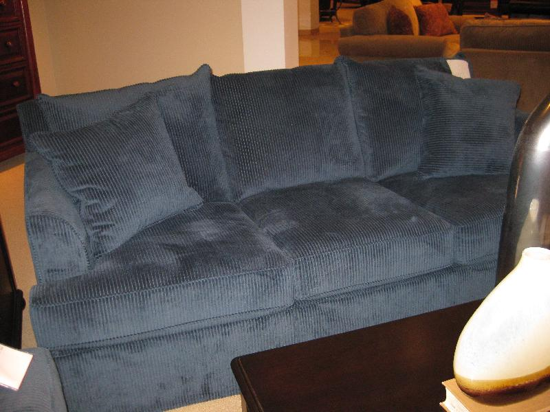 Sofa Corduroy Two Tone Mixed Upholstery Corduroy And Faux
