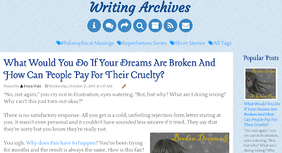 Writing Archives, blog, philosophical musings, short stories