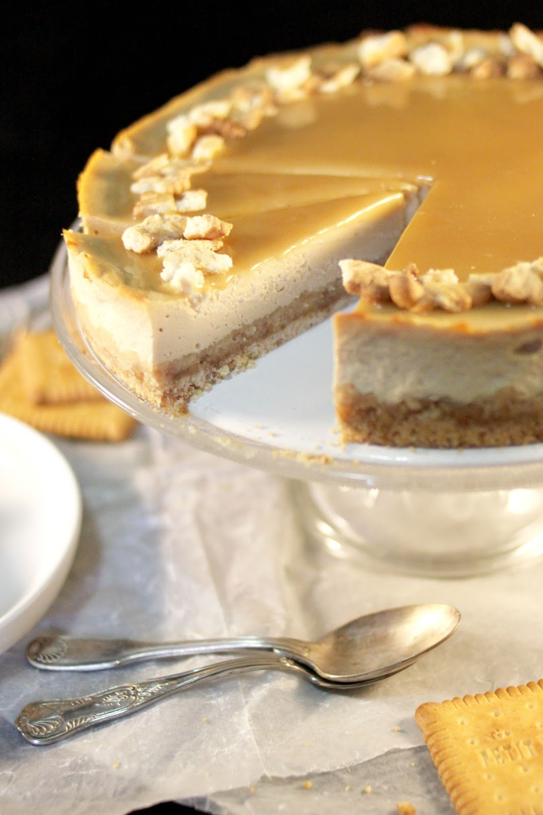 chlo d lice cheesecake aux petits beurre caramel. Black Bedroom Furniture Sets. Home Design Ideas