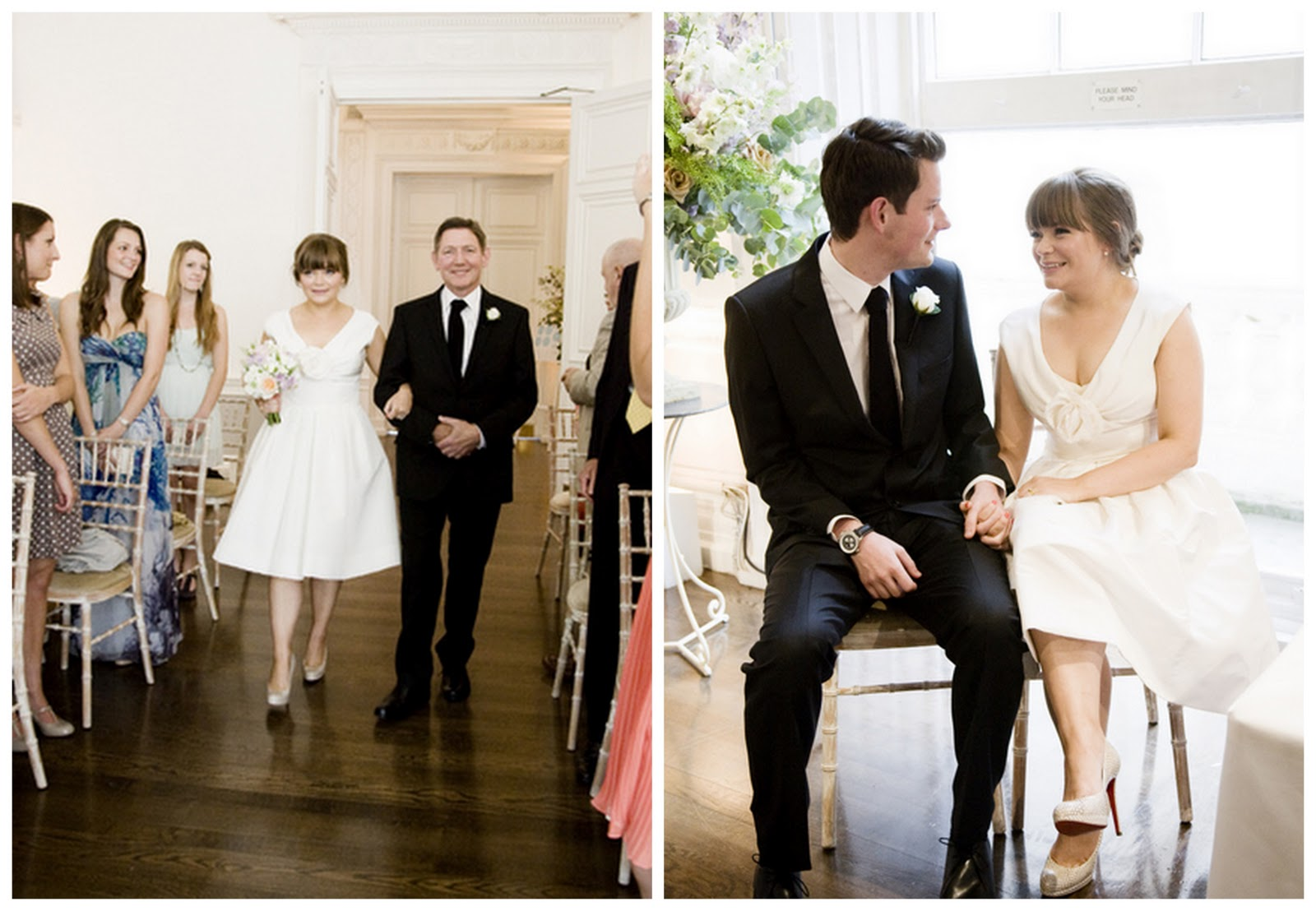 Real London Wedding With A Short Wedding Dress & Louboutins