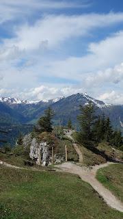 Buchensteinwand mit dem Mountainbike