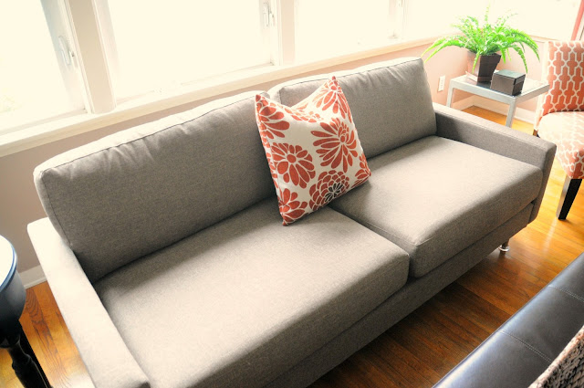 Contemporary couch from CB2 :: OrganizingMadeFun.com
