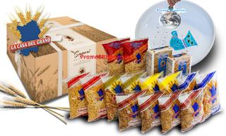 Logo Con ''La Casa del Grano'' vinci 35 forniture di pasta da 3 o 8 kg.