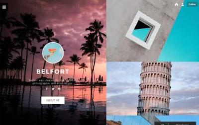 Belfort бесплатная тема для Tumblr 2018
