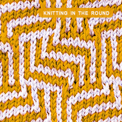 Mosaic knitting in the round. How to knit the Maze stitch. This pattern includes both Written Instructions and Chart