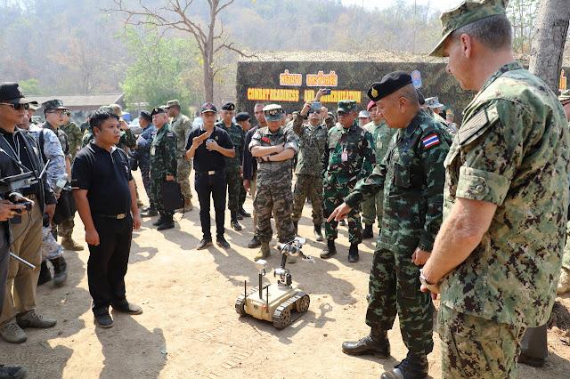 Asops Panglima TNI Tinjau Calfex Cobra Gold 2019 Libatkan Prajurit TNI di Thailand