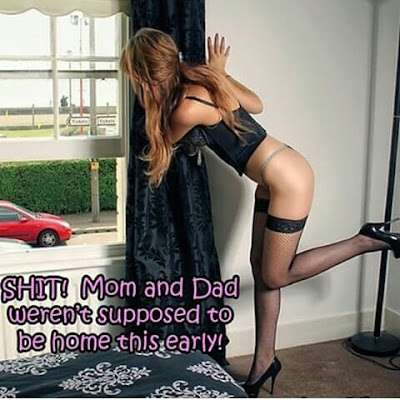 Being caught Crossdressed - Sissy TG Caption