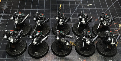 First Legion Dark Angels Calibanite Tactical Squad WIP