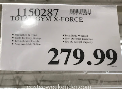 Deal for the Total Gym X Force at Costco