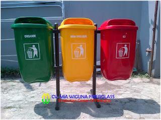 jual tong sampah fiber