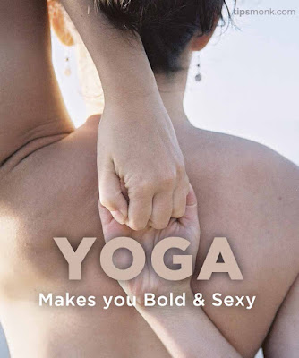 Yoga quotes with images of yoga poses with girls - Tipsmonk