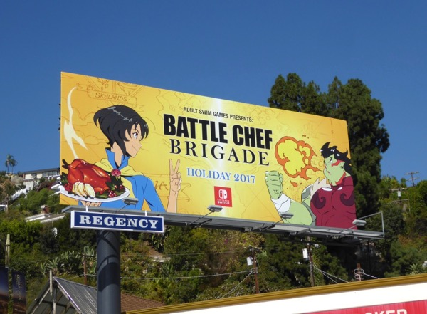 Battle Chef Brigade Adult Swim game billboard