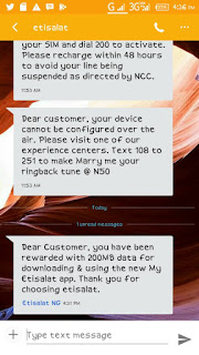 Activate Etisalat Free 200mb Without Any App