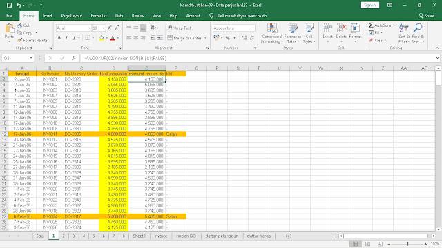Belajar Excel Langkah - langkah Cara Audit Menggunakan Excel
