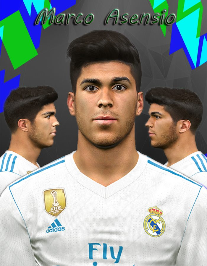 PES 2017 Marco Asensio Face by Youssef Facemaker
