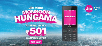 Jio Monsoon Hungama offer