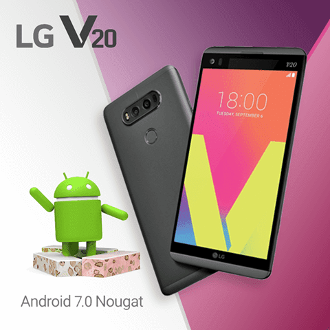 LG V20 Android 7.0 Nougat Will be Available in Philippines Soon