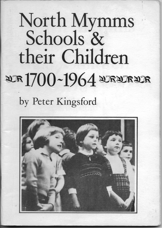 A scan of the cover of North Mymms Schools & their Children 1700-1964