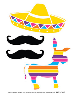 5 de Mayo, Free Printable Photo Booth.