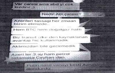 """Türkiyəli nazirdən Azərbaycanla bağlı şok sözlər – ABŞ kəşfiyyatı gizli """"Whatsapp"""" yazışmalarını yaydı"""