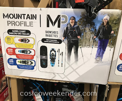 Costco 2000508 - Make exploring the backcountry easier with the Yukon Charlie Mountain Profile Snowshoe Kit