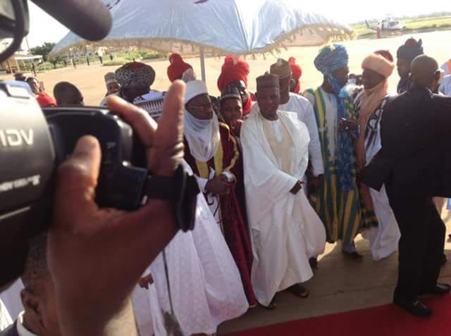 Photos: President Buhari arrives his hometown for Sallah