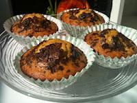 Muffins de kiwi con trocitos de chocolate