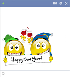 Happy New Year Facebook Smileys