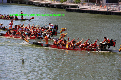Dragon boat race, DBS Marina Regatta 2015, Singapore