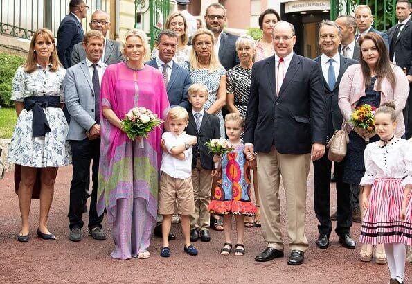 Prince Albert II and Princess Charlene, Crown Prince Jacques and Princess Gabriella