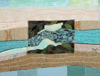 Ice Jam, by Sue Reno, detail 2
