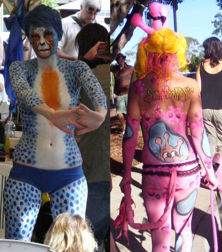Австралийский бодиарт карнавал 10