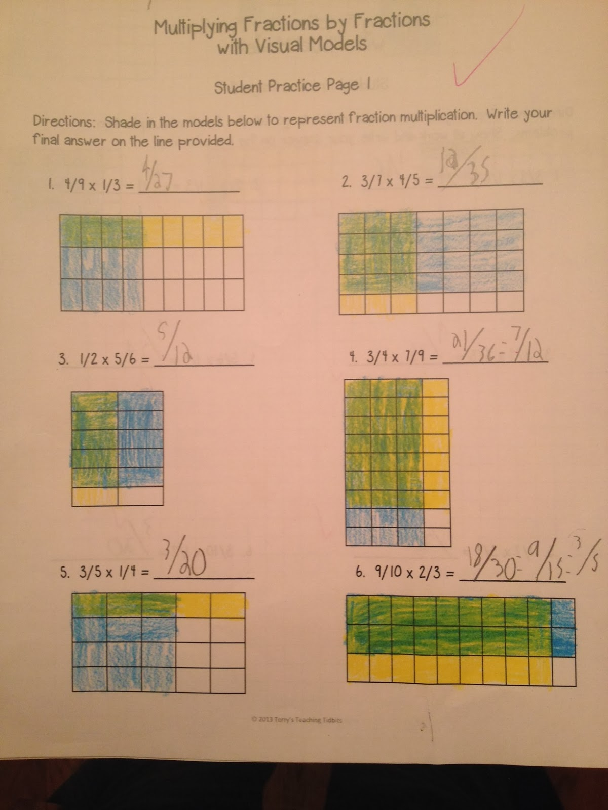Terry S Teaching Tidbits Visual Fraction Models For