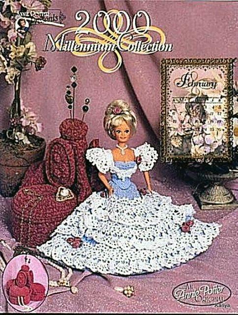 Boneca Barbie-Revista Millennium Collection Crochê