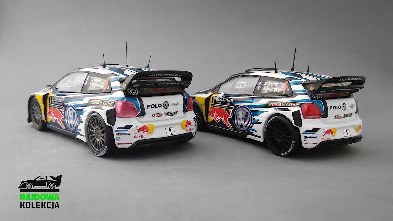 IXO RAM621 vs IXO/Eaglemoss - Volkswagen Polo R WRC, Zwycięzca Rajdu Monte-Carlo 2016
