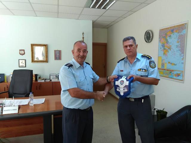 Εθιμοτυπική επίσκεψη μελών της Τοπικής  Διοίκησης της Διεθνούς Ένωσης Αστυνομικών στον Διευθυντή Αργολίδας