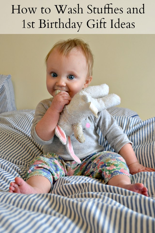How to Wash Stuffies and 5 First Birthday Gift Ideas