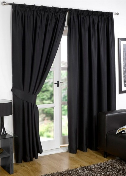 black and white curtains walmart blackout