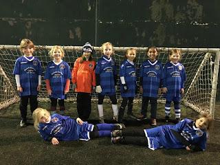 The ICA under-8 girls team