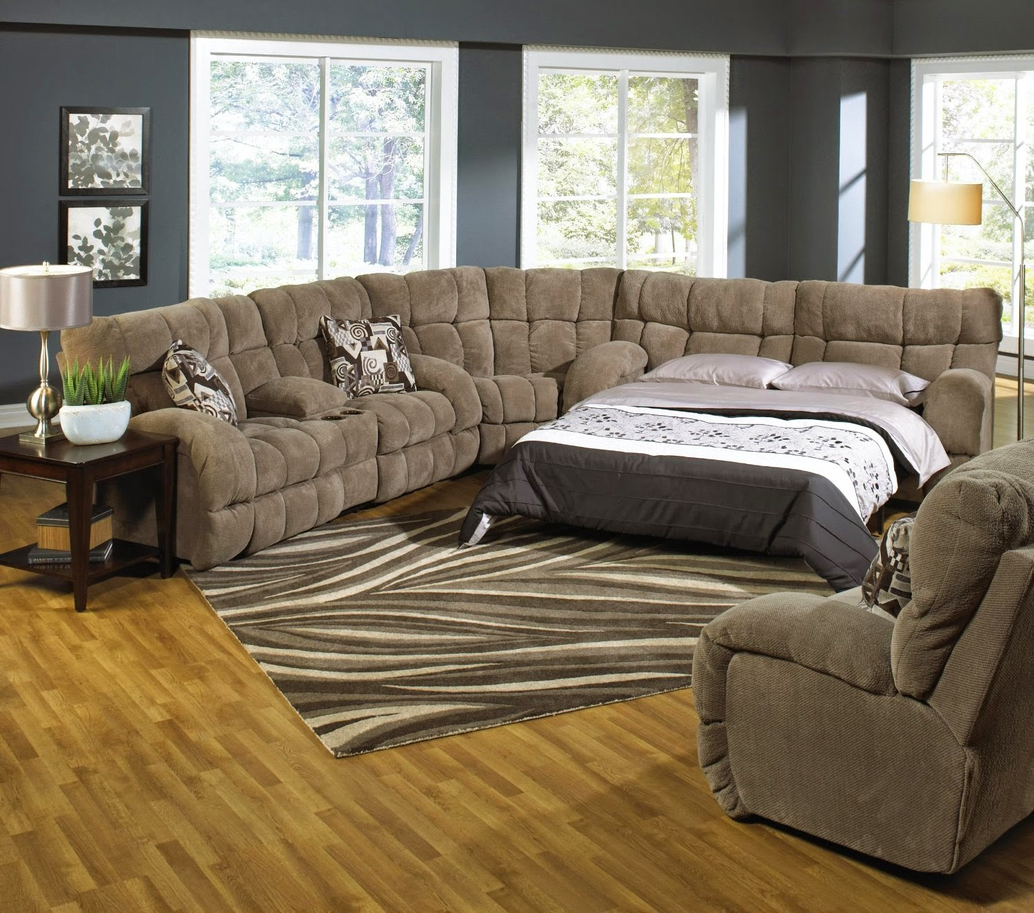 reclining-sleeper-sofa-set