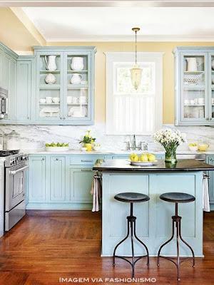 armário para cozinha estilo romântico