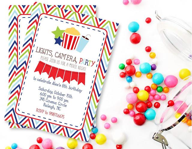 shop too sweet movie night birthday party printables