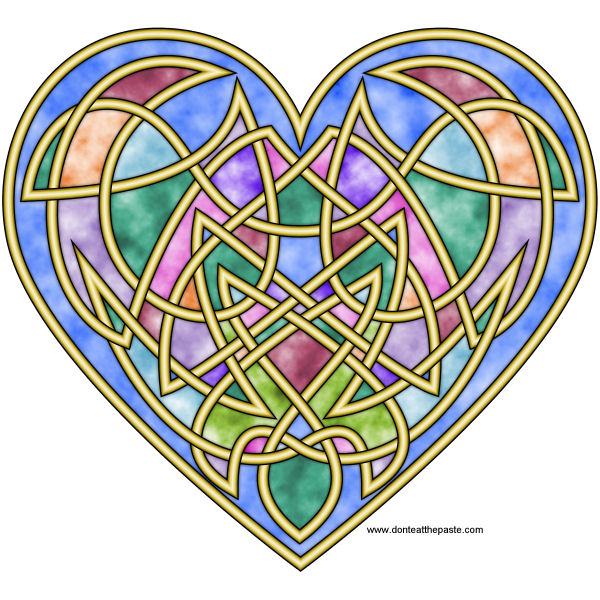 Knotwork heart design