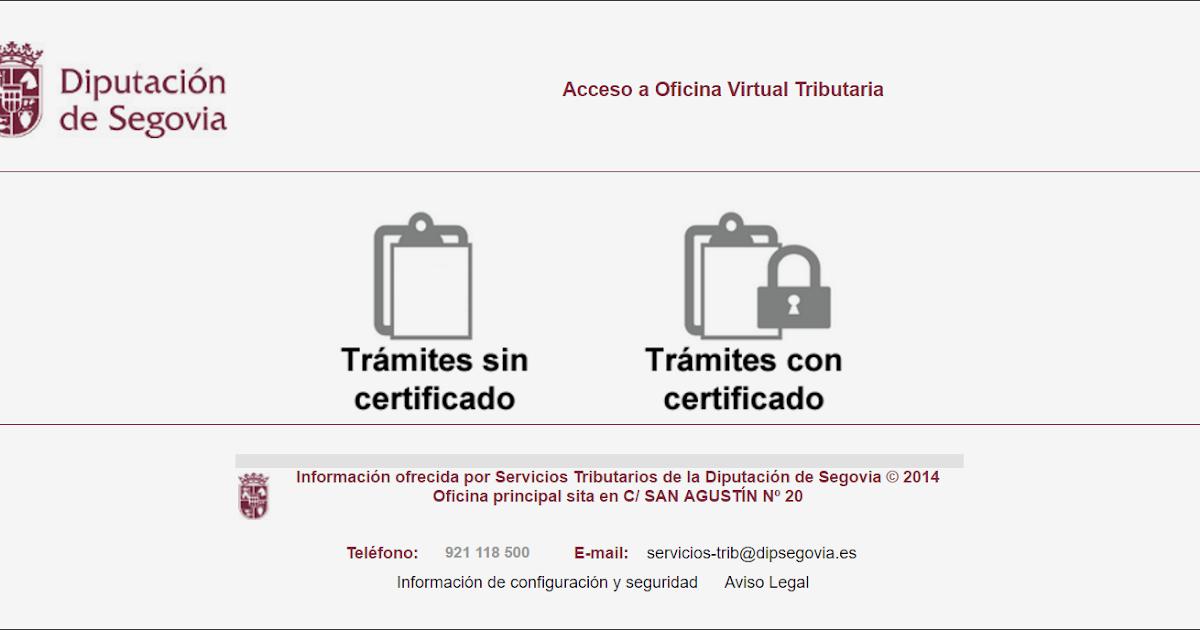 P gina web oficial del ayuntamiento de coca segovia oficina virtual tributaria servicios - Oficina virtual entidades locales ...