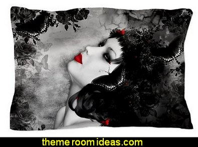 Black Rose Fantasy Pillow Case