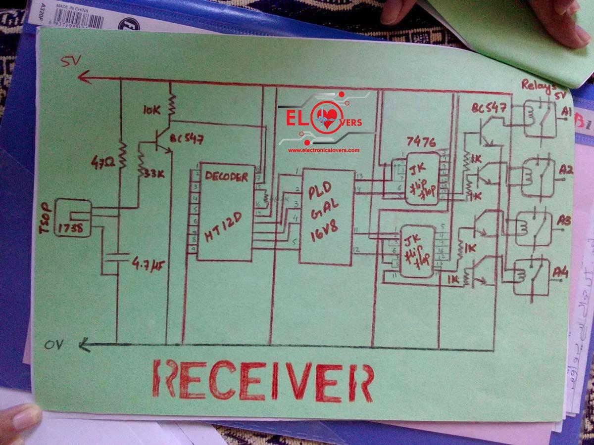 555 Flip Flop Leds Ir Transmitter Circuit Ir Detector Circuit